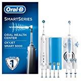 Oral-B 5000 Oxyjet Smart Oral Center Spazzolino Elettrico e Idropulsore Oxyjet, con 4 Testine, 6...