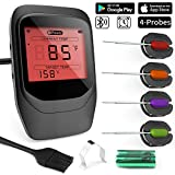 Termometro Barbecue, Gifort Termometro digitale per carne,Termometro Cucina Wireless,Termometro...