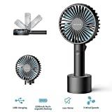 Elechomes, mini ventilatore elettrico portatile da esterno, con batteria ricaricabile, manico...