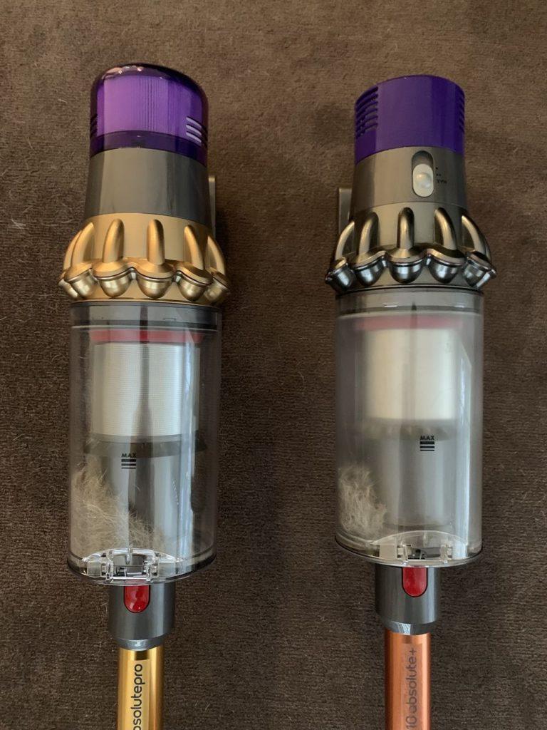 confronto dyson-v10-vs-v11 motore e contenitore