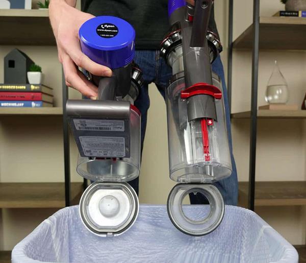 dyson v8 e v10 contenitore polvere e manutezione